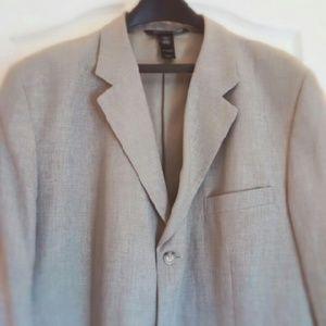 Men's Grey 55% Linen 45% Rayon Sports Coat…